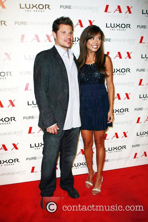 Nick Lachey and Vanessa Minnillo celebrate their joint...
