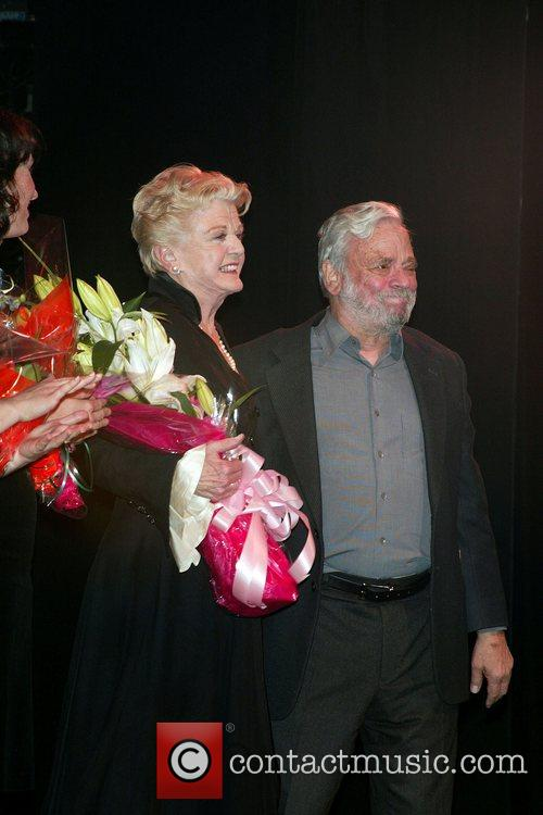 Angela Lansbury and Stephen Sondheim  On stage...