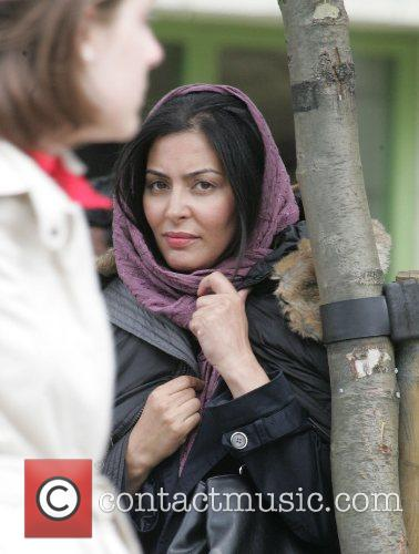Laila Rouass on the set of the new...