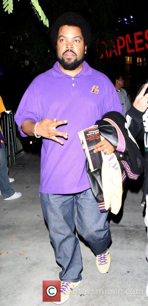 Leaving the Staples Center after watching the LA...