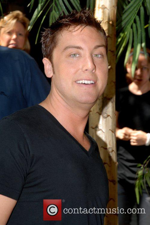 Lance Bass at ABC Studio's after appearing on...