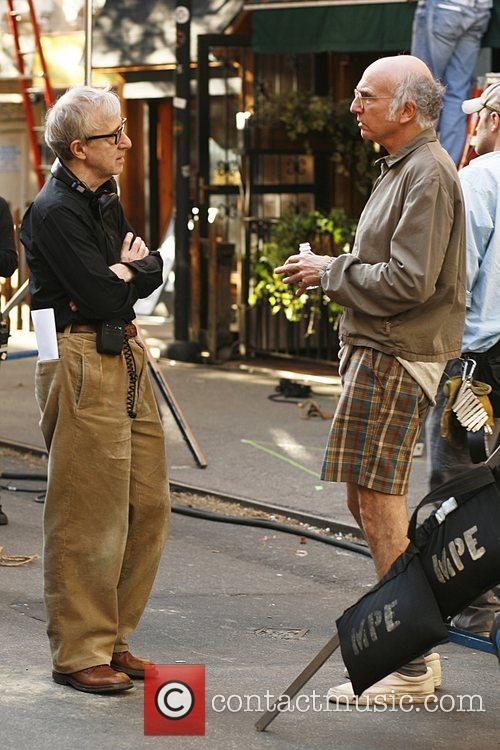 On set of Woody Allen's untitled film project...