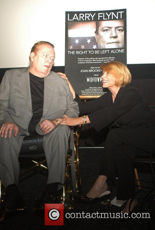 Larry Flynt and Director Joan Brooker-Marks Premiere of...