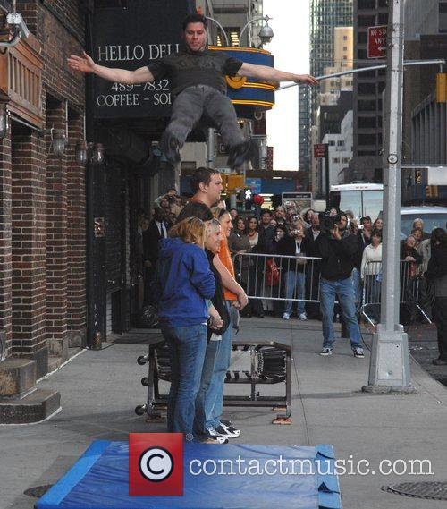 Jumping Stunt and David Letterman 1