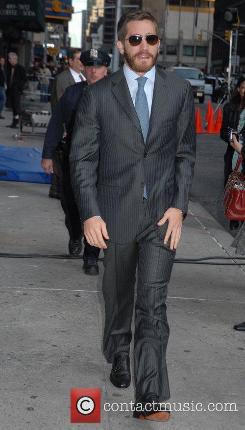 Jake Gyllenhaal and David Letterman 8