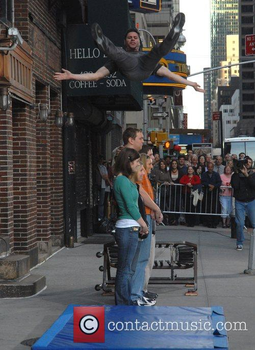 Jumping stunt, David Letterman, Ed Sullivan Theatre