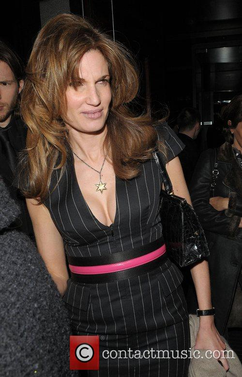 Jemima Khan leaving L'Atelier restaurant London, England