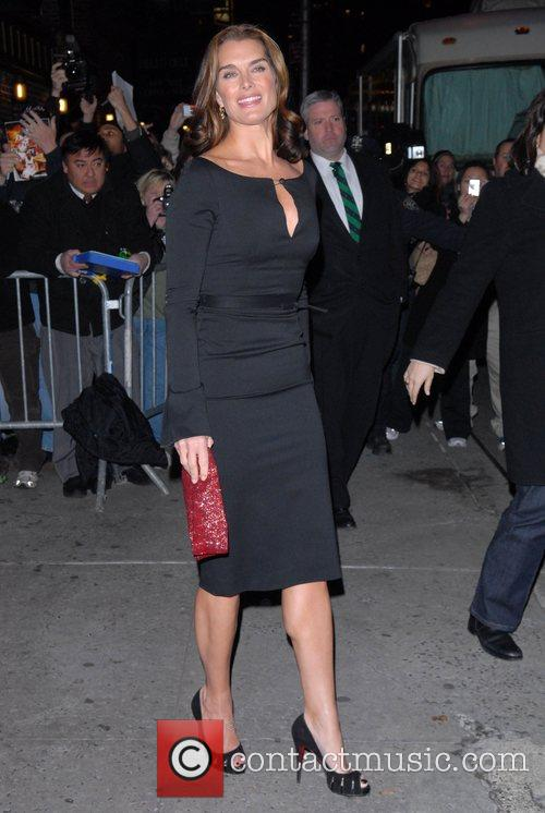 Brooke Shields, David Letterman and Ed Sullivan Theatre 3