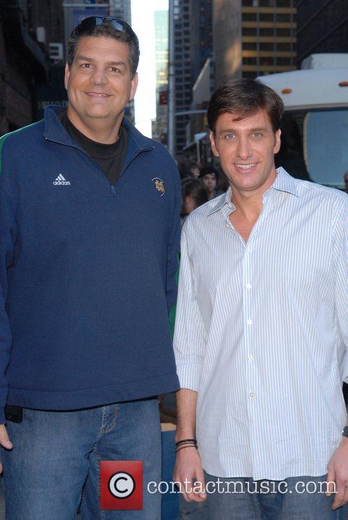 Mike Golic, David Letterman and Ed Sullivan Theatre 3