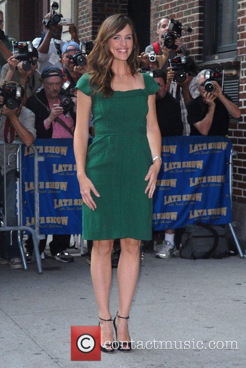 Jennifer Garner arrives at the Ed Sullivan Theatre...