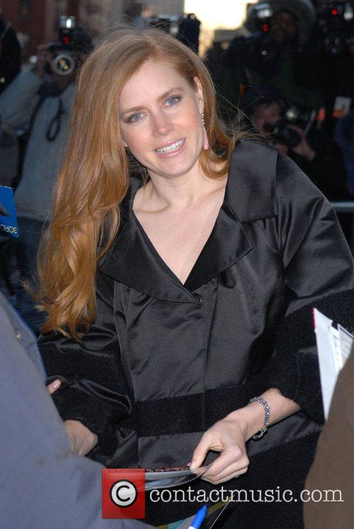 Amy Adams at the Ed Sullivan Theatre after...