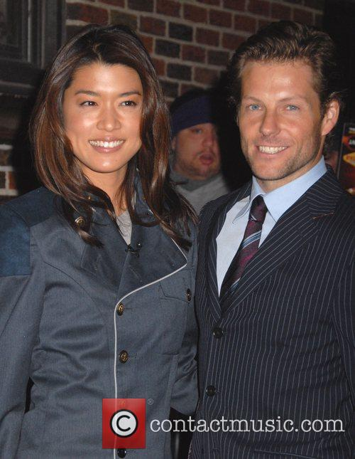 Grace Park, David Letterman and Ed Sullivan Theatre