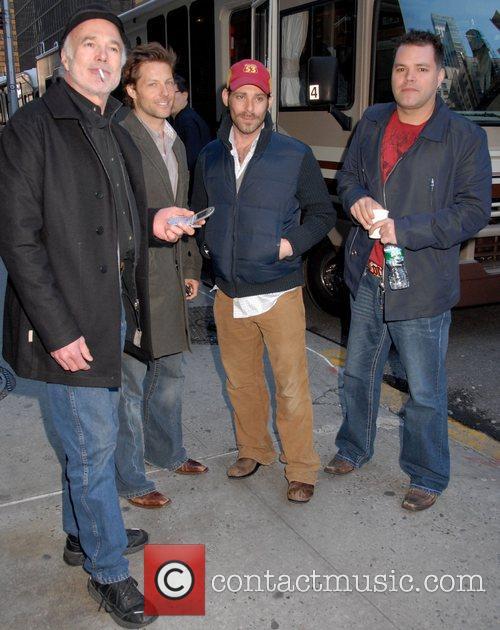 Michael Hogan, David Letterman, James Callis and Ed Sullivan Theatre 3