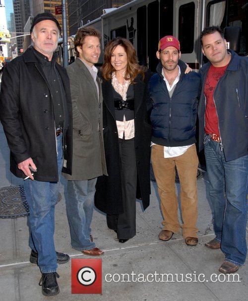Michael Hogan, David Letterman, James Callis, Mary Mcdonnell and Ed Sullivan Theatre