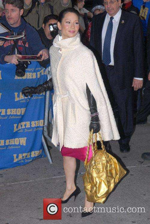 Lucy Liu and David Letterman 3