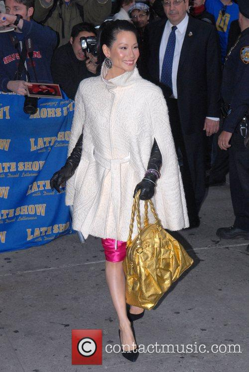 Lucy Liu and David Letterman 8