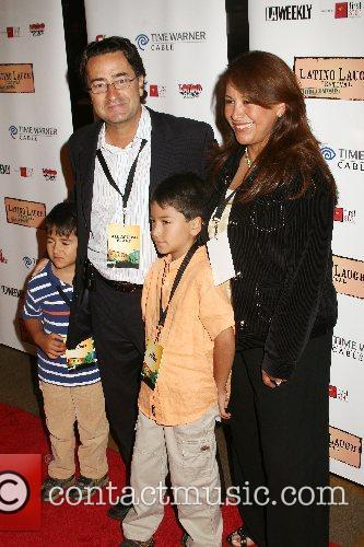 Latino Laugh Festival creator, Jeff Valdez and family...