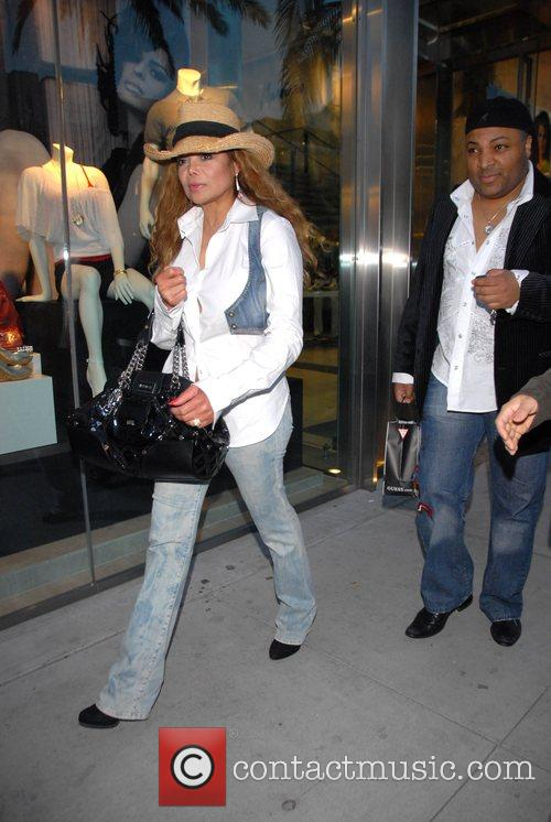 LaToya Jackson shopping in Beverly Hills