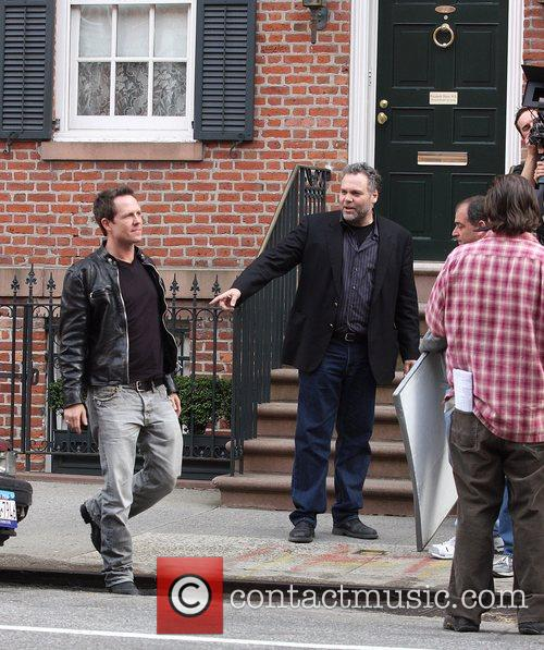 Dean Winter and Vincent D'Onofrio Filming a segment...