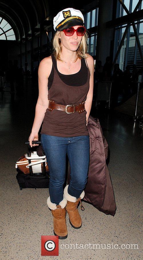 Natasha Bedingfield checks in at LAX wearing her...