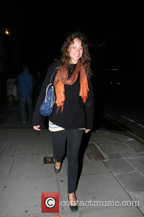 Leah Wood leaving Somerset House after watching Amy...