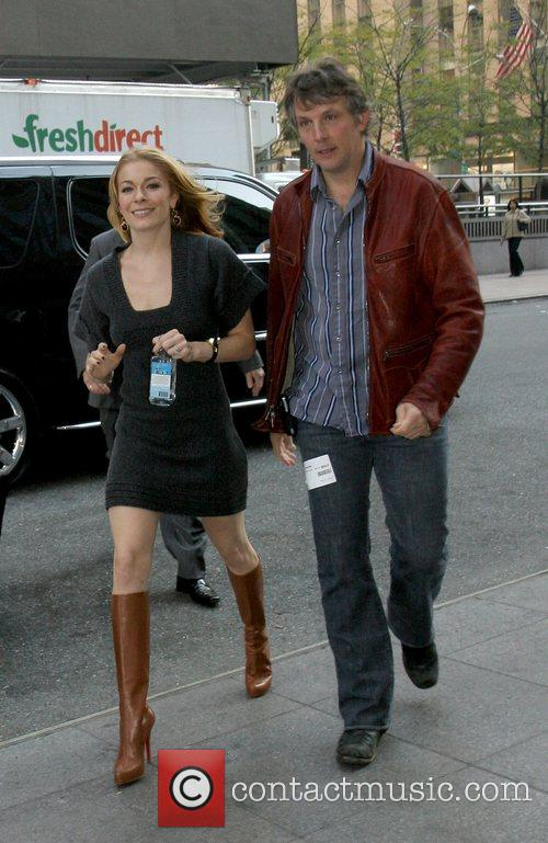 LeAnn Rimes arriving at Fox studios to appear...