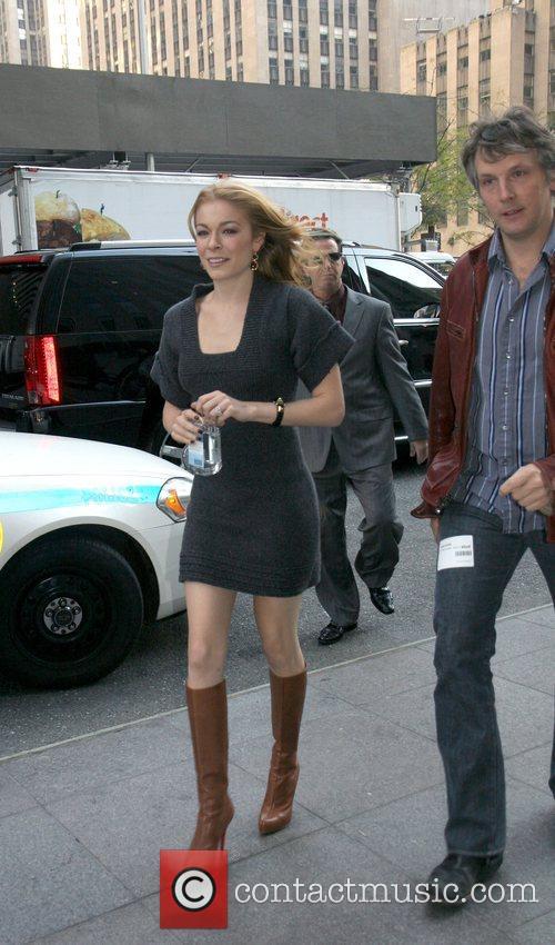 LeAnn Rimes arriving at Fox studios to appear...