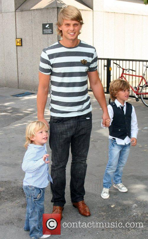 Jeff Brazier and sons Freddy and Bobby...