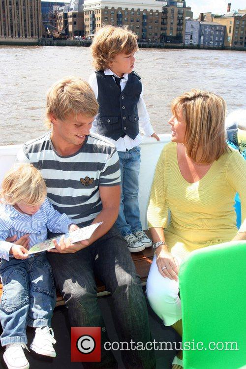 Jeff Brazier with sons Freddy and Bobby Jack,...