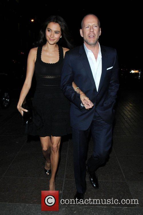 Emma Heming, Bruce Willis arrive at the screening...