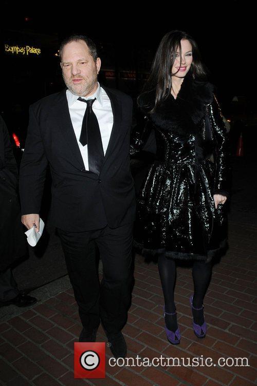 Harvey Weinstein, Georgina Chapman arrive at the screening...
