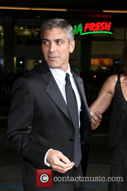 George Clooney  Attending the 'Leatherheads' Premiere held...