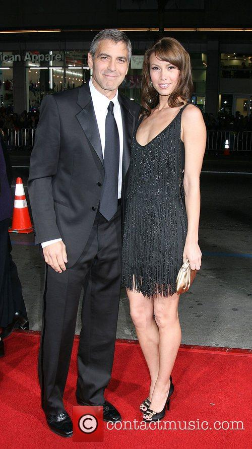 George Clooney and Sarah Larsson in 2008