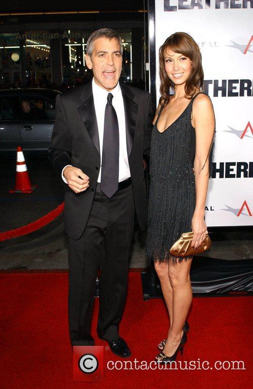 George Clooney and Sarah Larson 'Leatherheads' Premiere held...