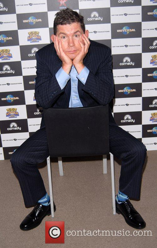 Lee Evans promoting his 2008 stand-up tour 'Big'...
