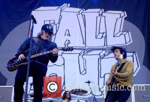 Pete Wentz Fall Out Boy performing at the...