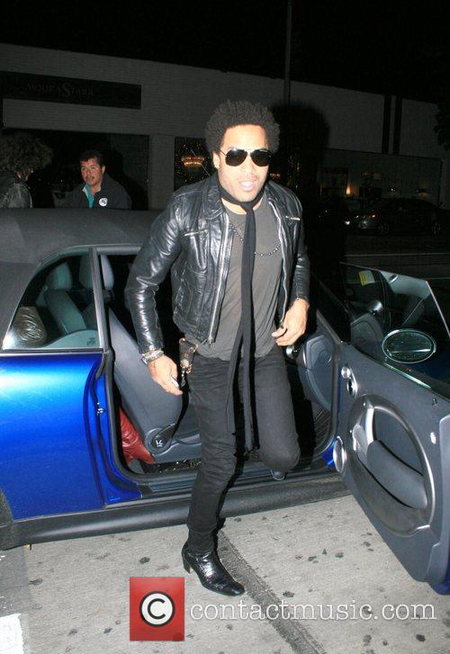 Lenny Kravitz arriving at Villa nightclub wearing sunglasses...