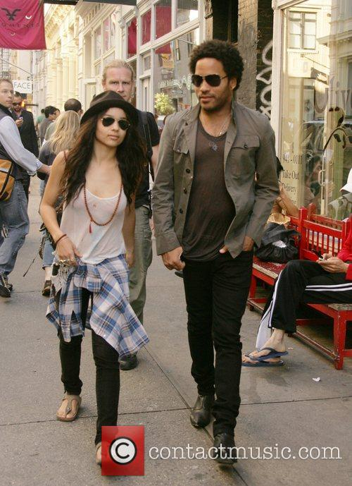 Zoe Kravitz and Lenny Kravitz out and about...