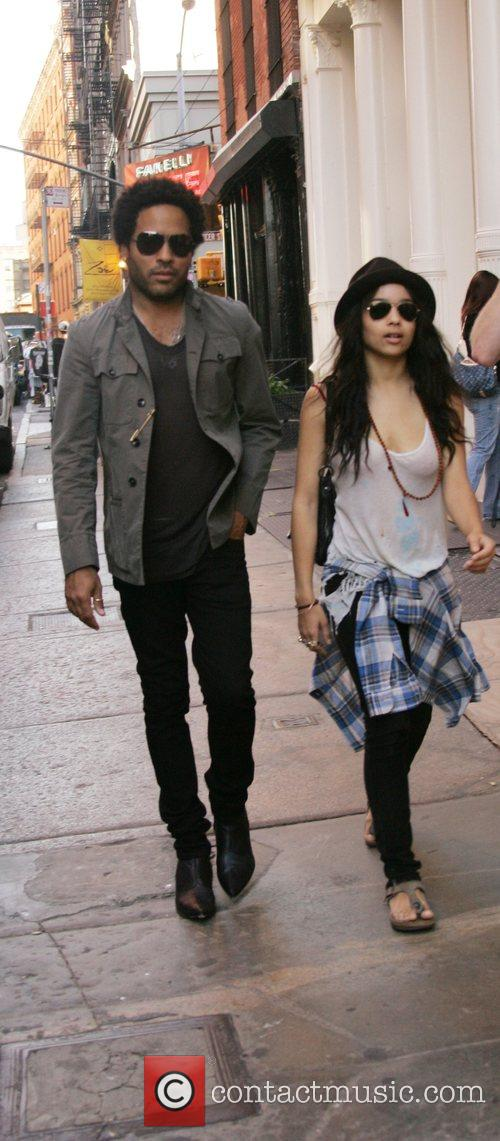 Lenny Kravitz and Zoe Kravitz out and about...