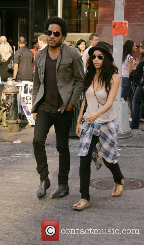 Lenny Kravitz and Zoe Kravitz 1