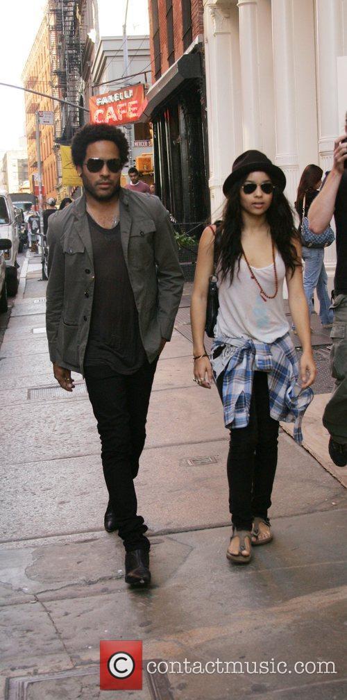 Lenny Kravitz and Zoe Kravitz 10