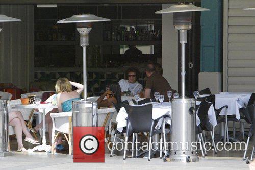 1970s pop star, Leo Sayer having lunch on...