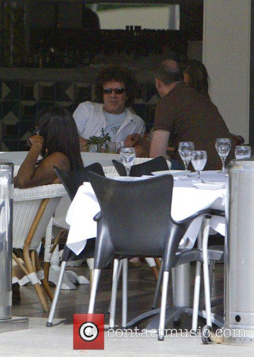 1970s pop star, Leo Sayer having lunch on...