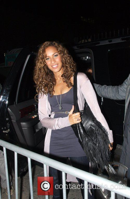 Leona Lewis leaving the taping of the 'Jimmy...