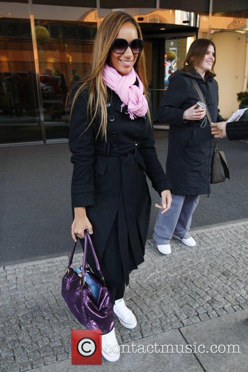 Leona Lewis leaving the Hyatt Hotel on Potsdamer...