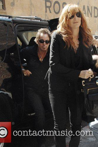Bruce Springsteen joins his wife Patti Scialfa...