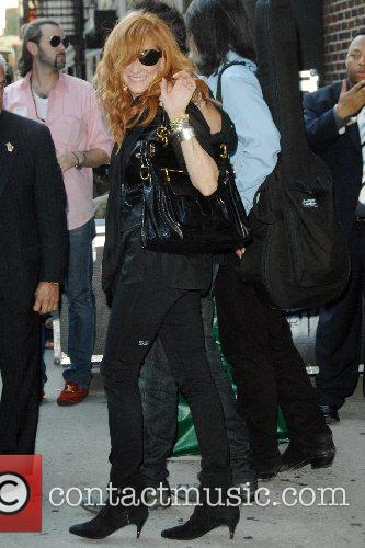 Patti Scialfa  outside Ed Sullivan Theatre for...