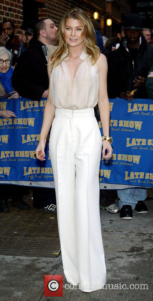 Ellen Pompeo and David Letterman 6