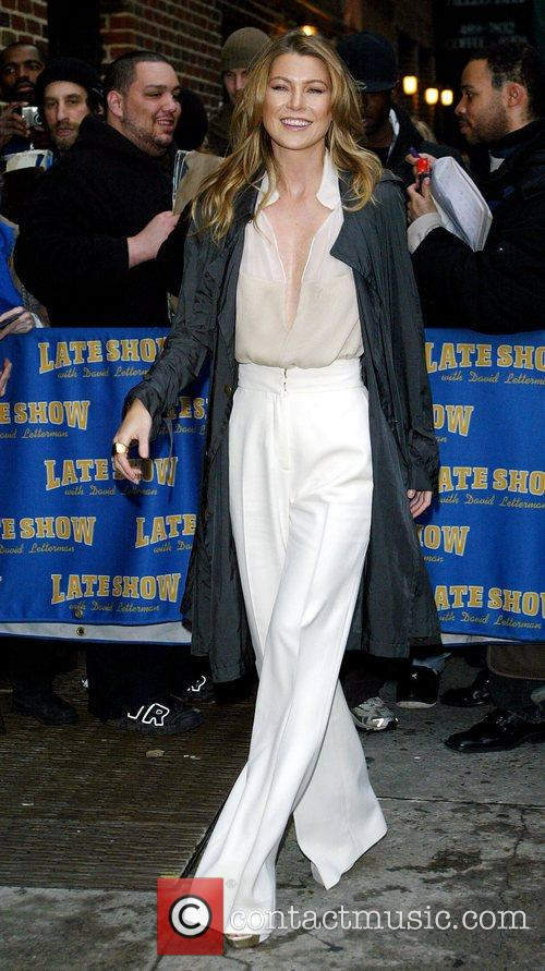 Ellen Pompeo and David Letterman 5