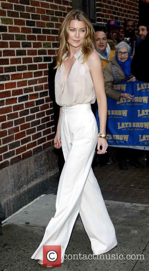 Ellen Pompeo and David Letterman 1